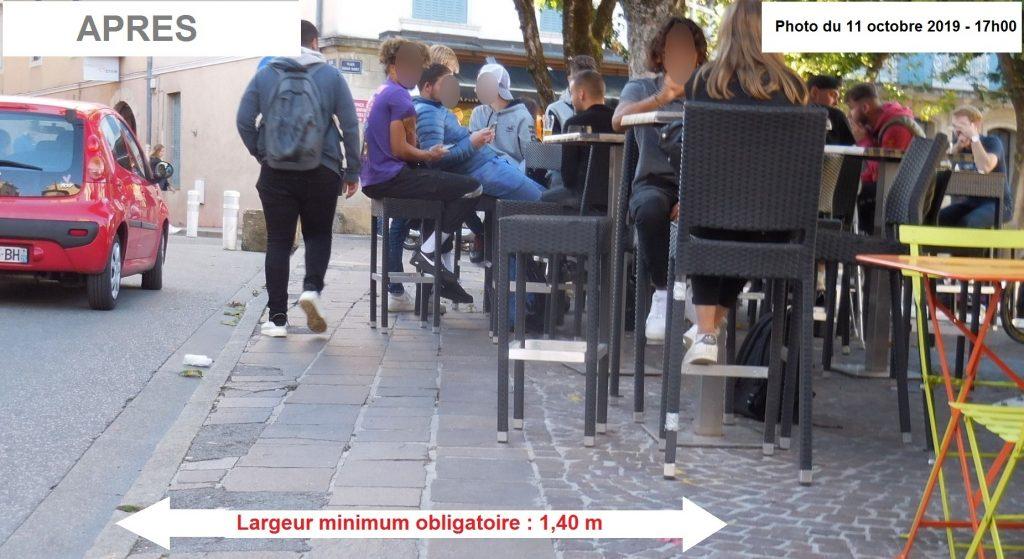 Pour quelles raisons la ville de Bourg a-t-elle retiré les blocs béton qui empêchaient la terrasse du Bistrot d'Edgar d'empiéAccessibilité en action, Bourg en Bresseter illégalement sur le domaine public ?