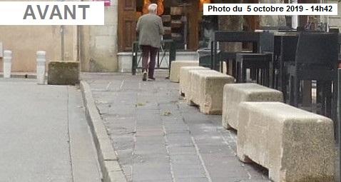 Pour quelles raisons la ville de Bourg a-t-elle retiré les blocs béton qui empêchaient la terrasse du Bistrot d'Edgar d'empiéter illégalement sur le domaine public ?  Accessibilité en action, Bourg en Bresse